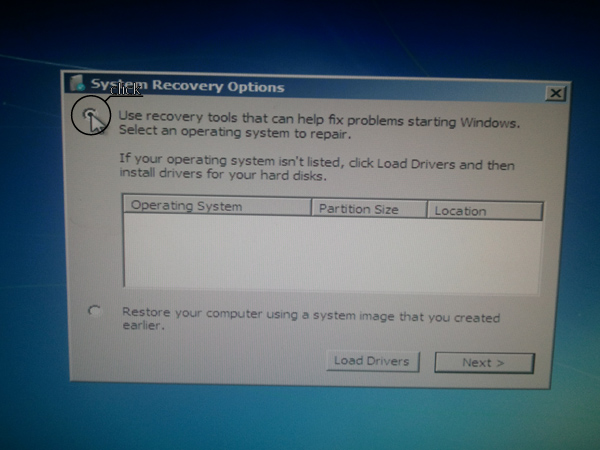 system recovery options or restore your computer