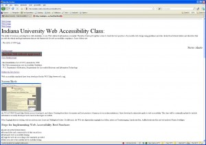 Web Accessibility Bad Example page with Stylesheets turned off