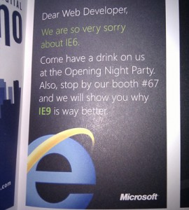 Microsoft's Apology for IE 6