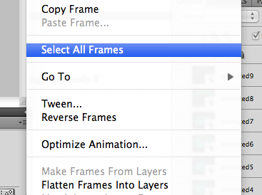select all frames