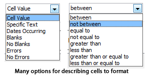 Choices in describing cells to format