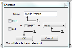 Window naming shortcut and assigning a shortcut