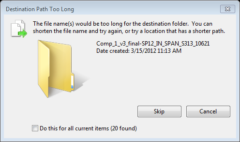 "A graphic of the ""destination path too long"" error"