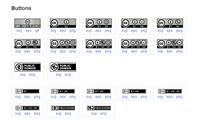 Creative Commons license buttons
