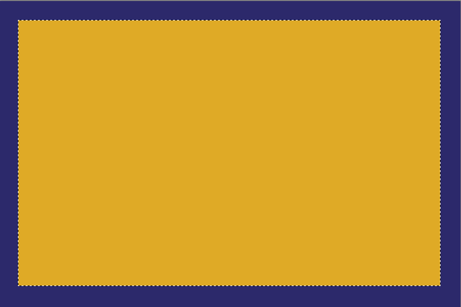 Blue Rectangle with Gold Rectangle
