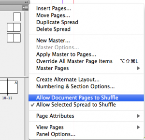 Allow Document Pages to shuffle