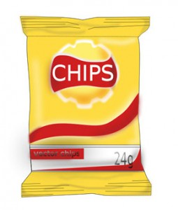 Bag of chips illustration