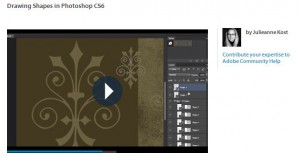 Screenshot of drawing shapes video tutorial.