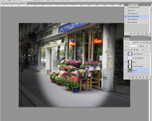 image showing visibility of two layers in the Photoshop Layer Comps panel