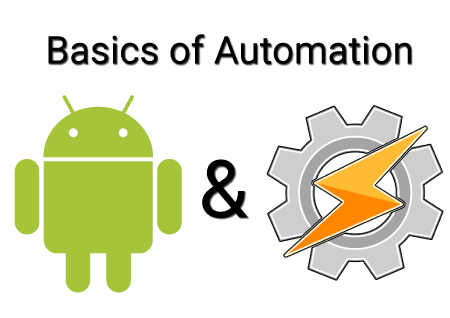 "Image with a photo of the Android alien and the Tasker icon. Text and images read ""Basics of Automation Android & Tasker"" The Android robot is reproduced or modified from work created and shared by Google and used according to terms described in the Creative Commons 3.0 Attribution License."