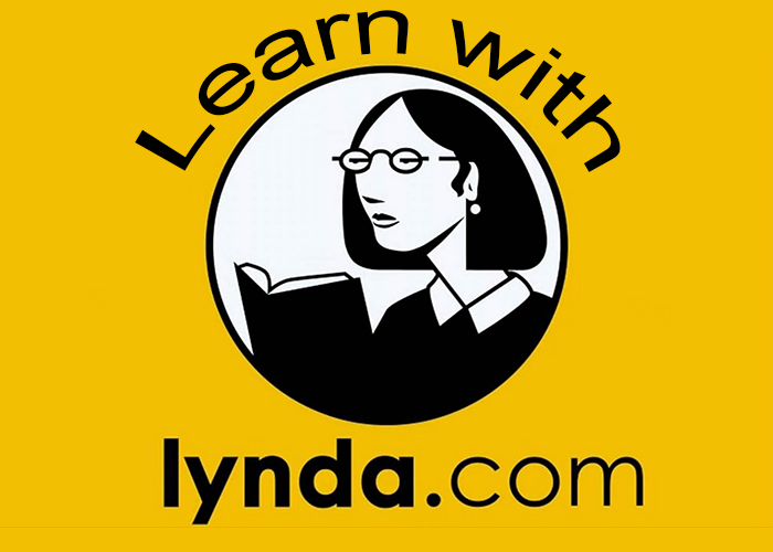 "Title image that showcases the Lynda.com logo and says ""Learn with Lynda.com"""