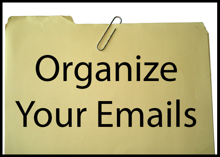 "Title image of a manila folder that says ""Organize your emails"""
