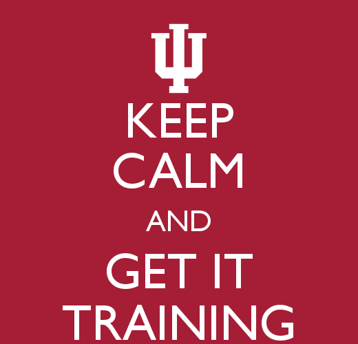 Keep calm and get IT Training sign