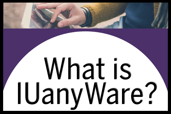 "A title image that says ""What is IUanyWare?"""