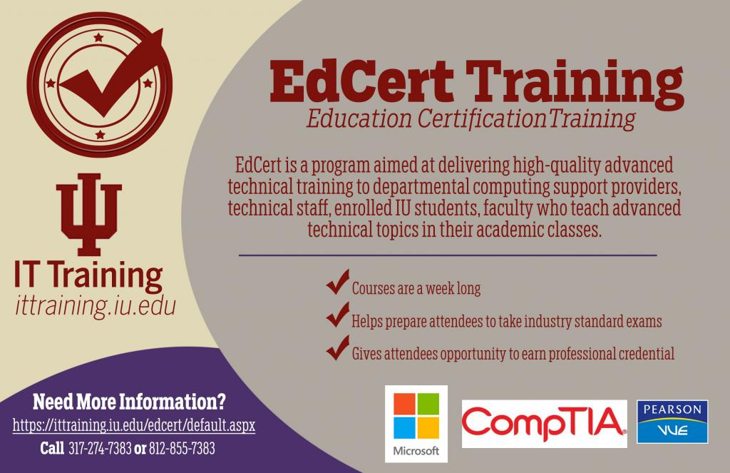 Edcert: Education Certification Training Program Title Image