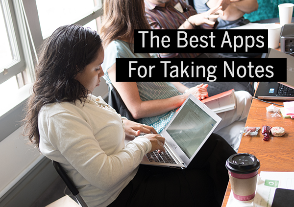 "title image that says ""The best apps for taking notes"""