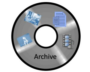 Illustration: DVD with snapshots and file type icons.