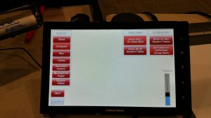 The control panel for technology in a classroom